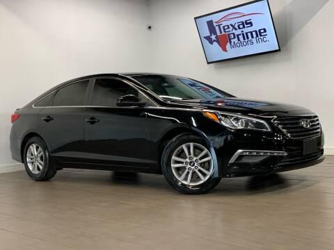 2015 Hyundai Sonata for sale at Texas Prime Motors in Houston TX