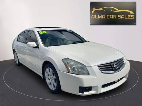2008 Nissan Maxima for sale at Alma Car Sales in Miami FL