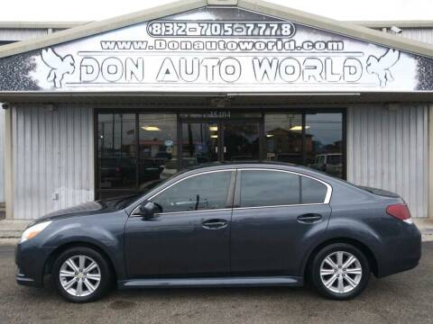 2010 Subaru Legacy for sale at Don Auto World in Houston TX