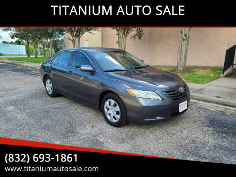 2008 Toyota Camry for sale at TITANIUM AUTO SALE in Houston TX