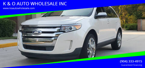 2013 Ford Edge for sale at K & O AUTO WHOLESALE INC in Jacksonville FL
