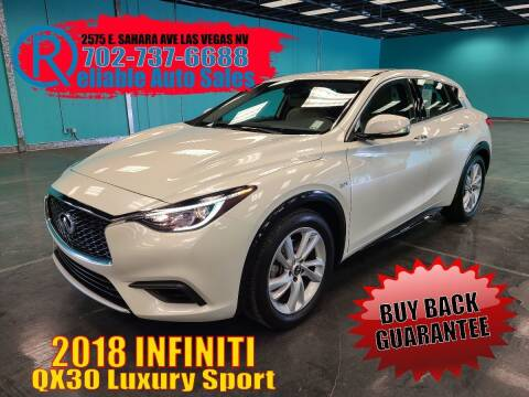 2018 Infiniti QX30 for sale at Reliable Auto Sales in Las Vegas NV