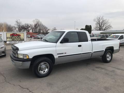1999 Dodge Ram Pickup 2500 for sale at Cordova Motors in Lawrence KS