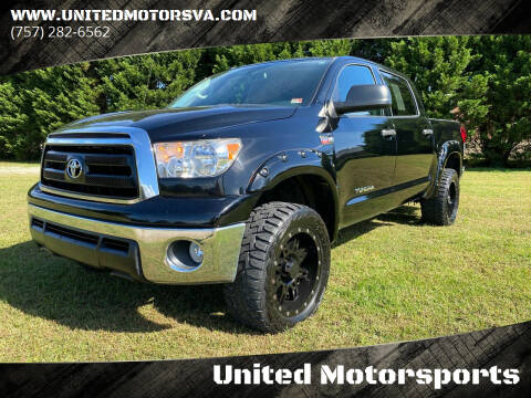 2012 Toyota Tundra for sale at United Motorsports in Virginia Beach VA