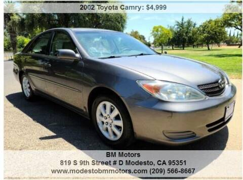 2002 Toyota Camry for sale at BM Motors in Modesto CA