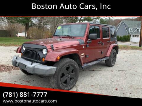 2007 Jeep Wrangler Unlimited for sale at Boston Auto Cars in Dedham MA