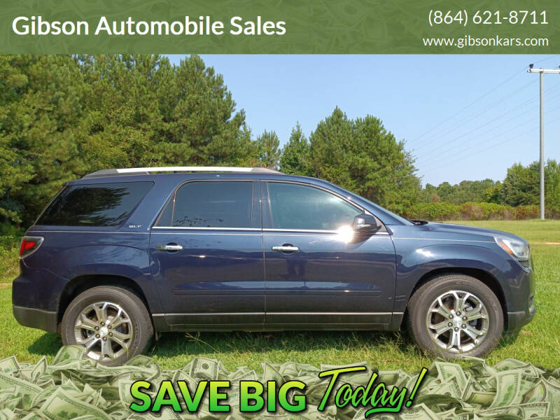 2015 GMC Acadia for sale at Gibson Automobile Sales in Spartanburg SC