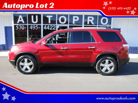 2012 GMC Acadia for sale at Autopro Lot 2 in Sunbury PA