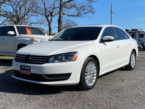 2013 Volkswagen Passat for sale at TINKER MOTOR COMPANY in Indianola OK