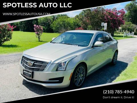2015 Cadillac ATS for sale at SPOTLESS AUTO LLC in San Antonio TX