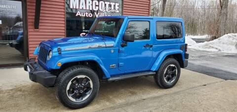 2014 Jeep Wrangler for sale at Marcotte & Sons Auto Village in North Ferrisburgh VT