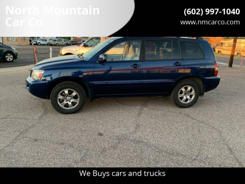 2007 Toyota Highlander for sale at North Mountain Car Co in Phoenix AZ