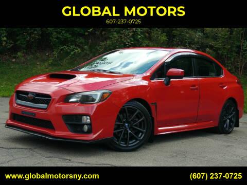 2015 Subaru WRX for sale at GLOBAL MOTORS in Binghamton NY