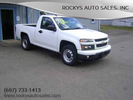 2012 Chevrolet Colorado for sale at Rockys Auto Sales, Inc in Elmira NY