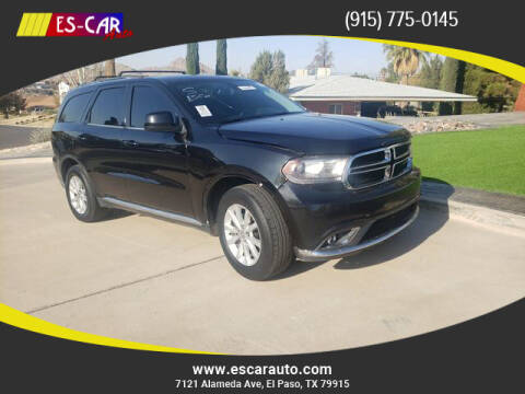 2015 Dodge Durango for sale at Escar Auto in El Paso TX