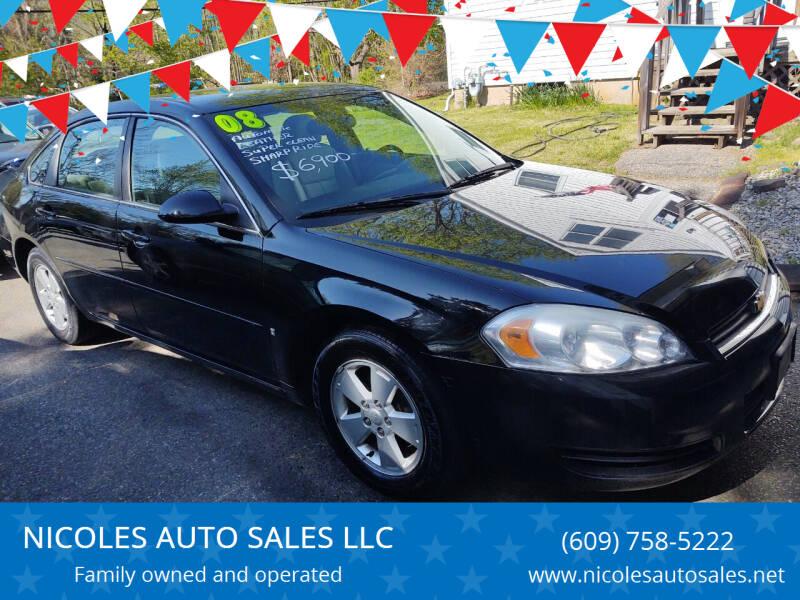 2008 Chevrolet Impala for sale at NICOLES AUTO SALES LLC in Cream Ridge NJ