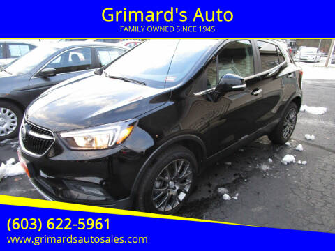 2019 Buick Encore for sale at Grimard's Auto in Hooksett, NH