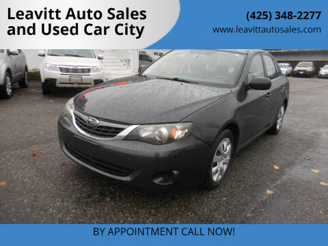 2008 Subaru Impreza for sale at Leavitt Auto Sales and Used Car City in Everett WA