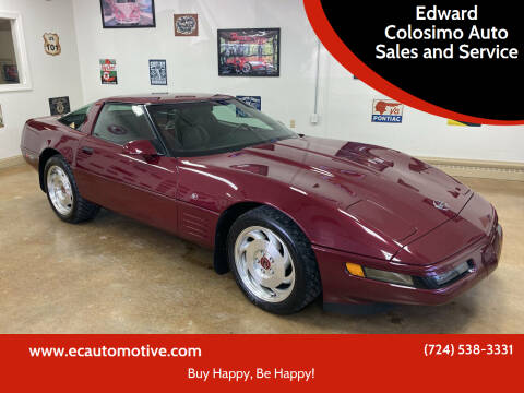 1993 Chevrolet Corvette for sale at Edward Colosimo Auto Sales and Service in Evans City PA