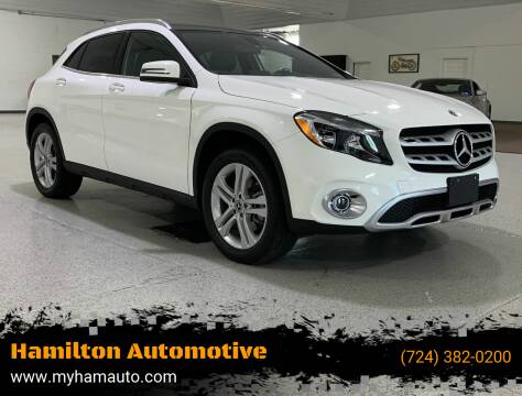 2019 Mercedes-Benz GLA for sale at Hamilton Automotive in North Huntingdon PA