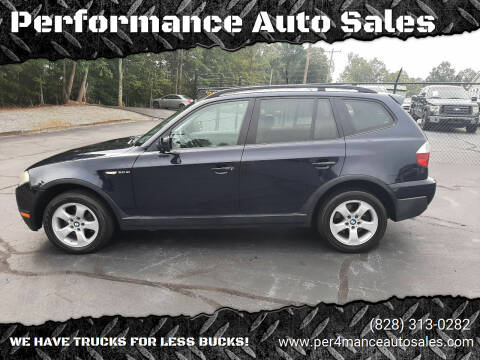 2007 BMW X3 for sale at Performance Auto Sales in Hickory NC