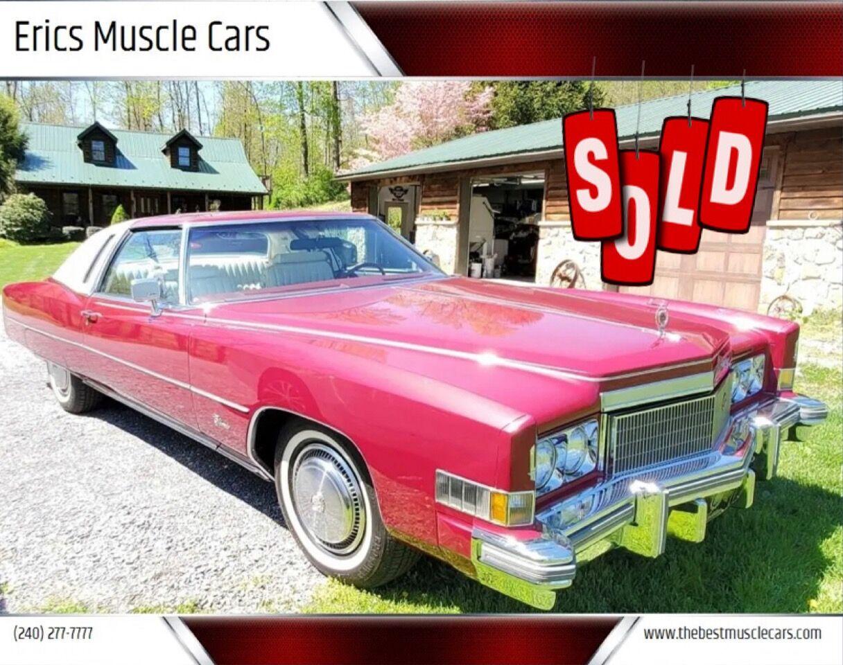 1974 Cadillac Eldorado SOLD SOLD SOLD