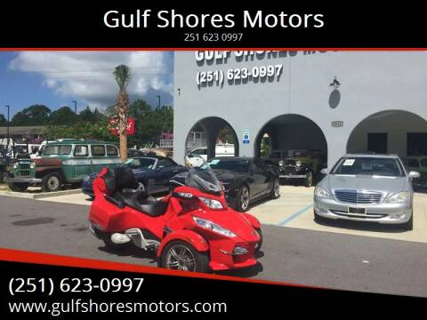 2011 Can Am Spyder RT for sale at Gulf Shores Motors in Gulf Shores AL