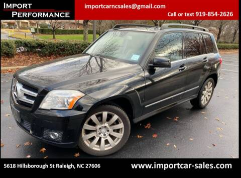 2011 Mercedes-Benz GLK for sale at Import Performance Sales in Raleigh NC