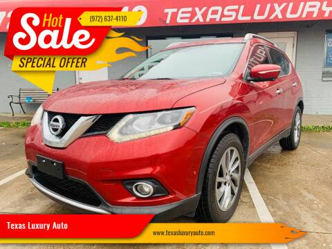 2015 Nissan Rogue for sale at Texas Luxury Auto in Cedar Hill TX