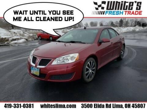 2010 Pontiac G6 for sale at White's Honda Toyota of Lima in Lima OH