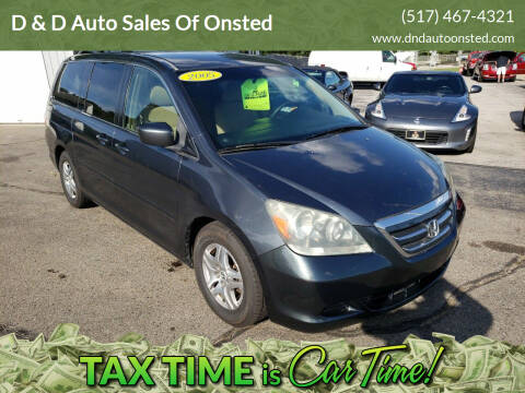 2005 Honda Odyssey for sale at D & D Auto Sales Of Onsted in Onsted   Brooklyn MI