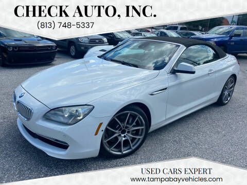 2012 BMW 6 Series for sale at CHECK AUTO, INC. in Tampa FL