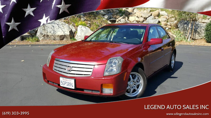 2004 Cadillac CTS for sale at Legend Auto Sales Inc in Lemon Grove CA