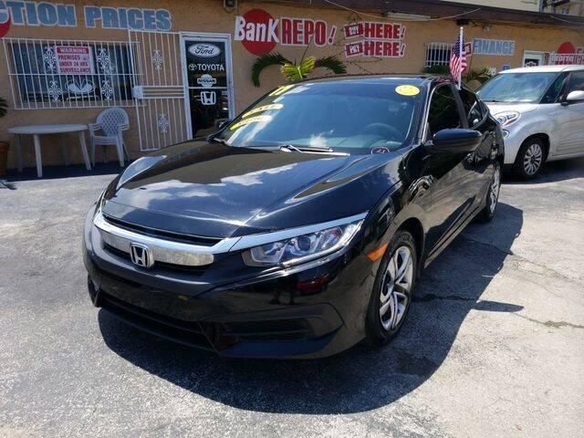 2017 Honda Civic for sale at VALDO AUTO SALES in Miami FL