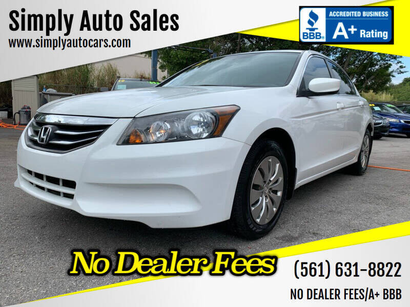 2012 Honda Accord for sale at Simply Auto Sales in Palm Beach Gardens FL