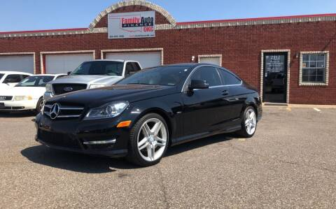 2012 Mercedes-Benz C-Class for sale at Family Auto Finance OKC LLC in Oklahoma City OK