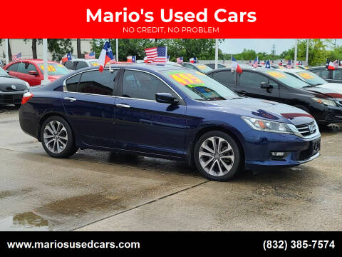 2014 Honda Accord for sale at Mario's Used Cars in Houston TX
