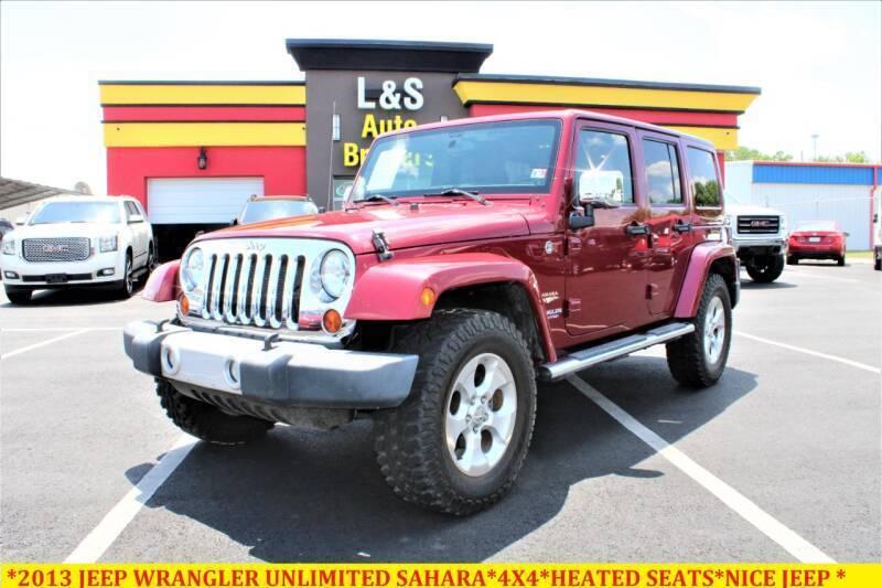 2013 Jeep Wrangler Unlimited for sale at L & S AUTO BROKERS in Fredericksburg VA