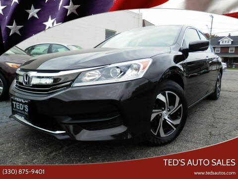 2017 Honda Accord for sale at Ted's Auto Sales in Louisville OH