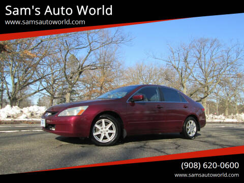2004 Honda Accord for sale at Sam's Auto World in Roselle NJ