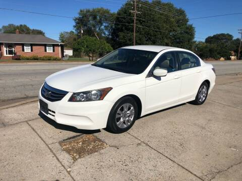 2012 Honda Accord for sale at E Motors LLC in Anderson SC