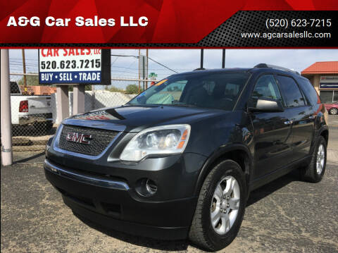 2011 GMC Acadia for sale at A&G Car Sales  LLC in Tucson AZ