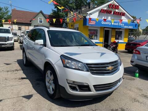 2017 Chevrolet Traverse for sale at C & M Auto Sales in Detroit MI