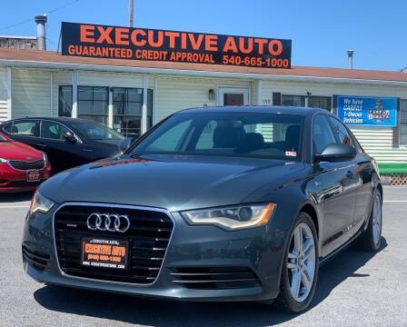 2012 Audi A6 for sale at Executive Auto in Winchester VA