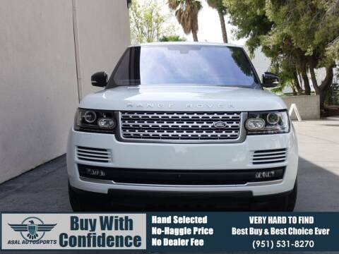 2016 Land Rover Range Rover for sale at ASAL AUTOSPORTS in Corona CA