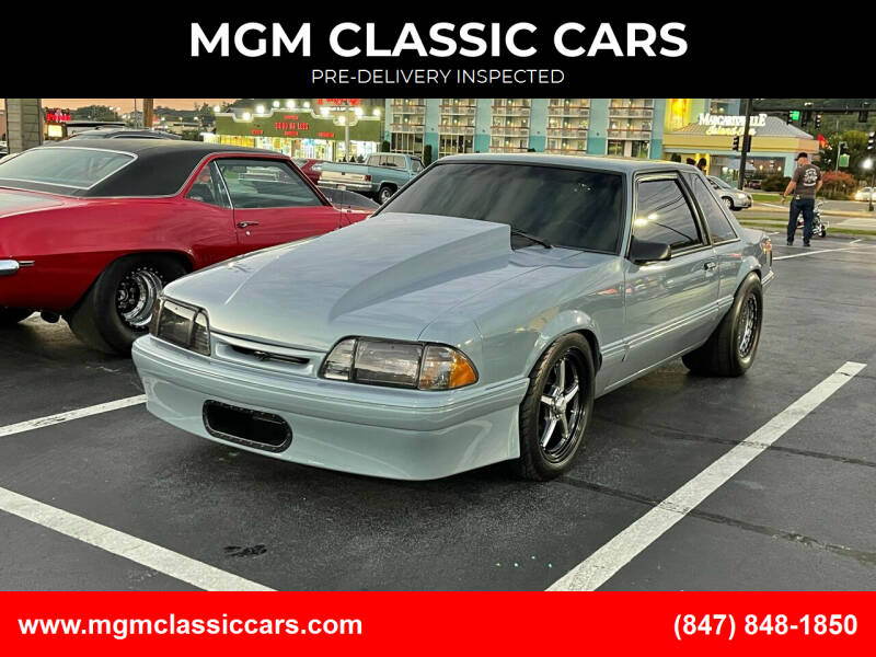 1993 Ford Mustang for sale at MGM CLASSIC CARS-New Arrivals in Addison IL
