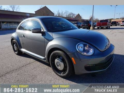 2014 Volkswagen Beetle for sale at Auto Q Car and Truck Sales in Mauldin SC