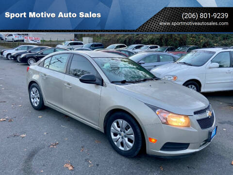 2014 Chevrolet Cruze for sale at Sport Motive Auto Sales in Seattle WA