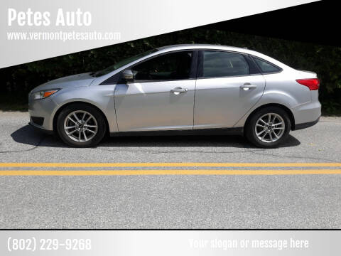 2016 Ford Focus for sale at Petes Auto in Middlesex VT