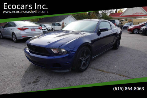 2012 Ford Mustang for sale at Ecocars Inc. in Nashville TN